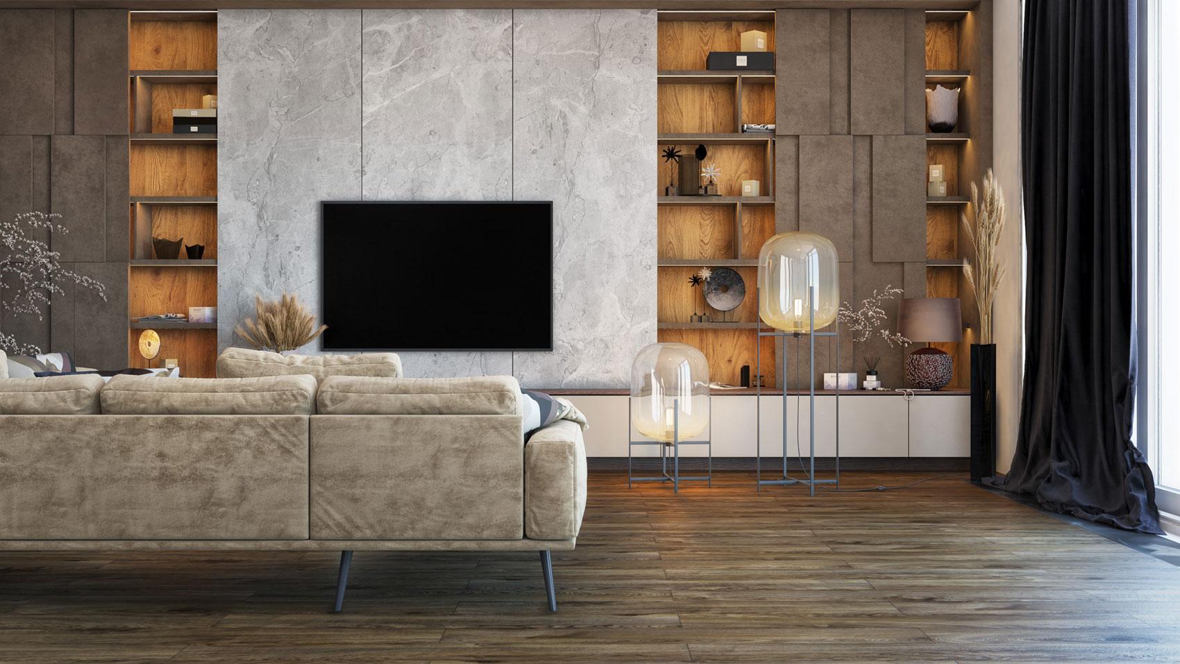 przykładowa wizualizacja 3d salonu